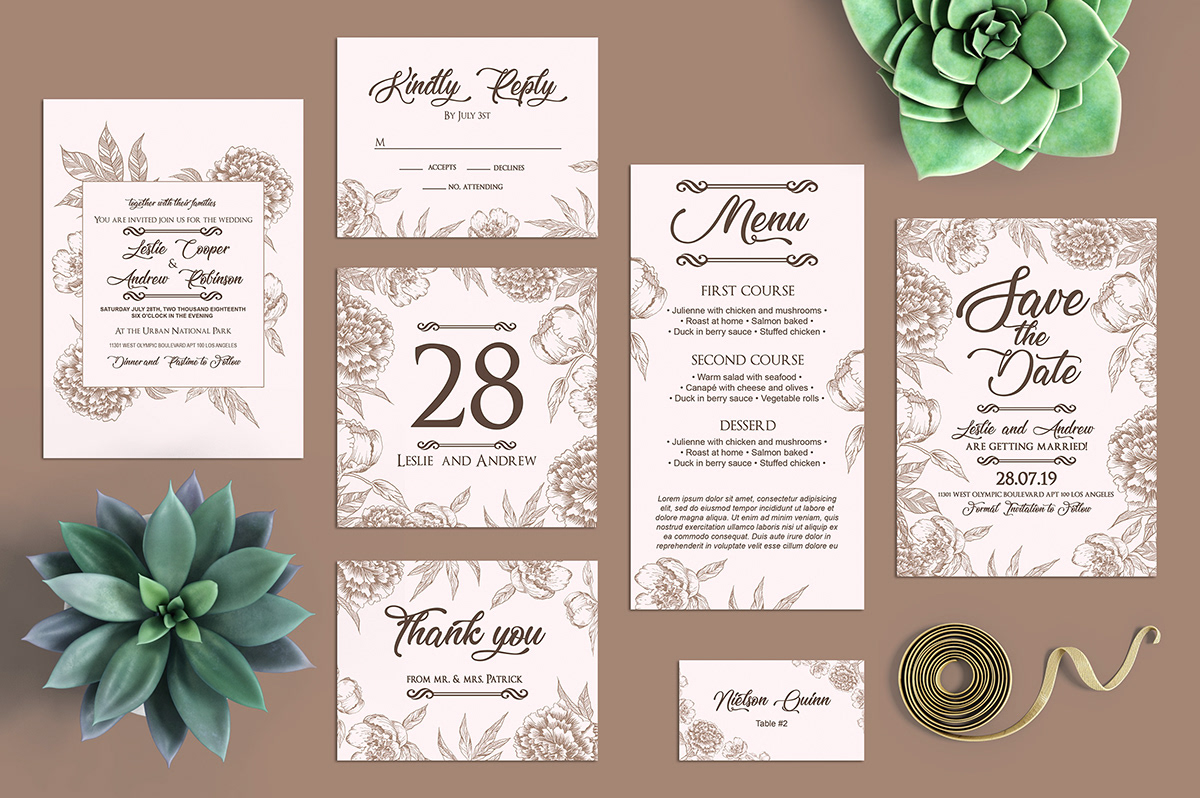 24 Free Wedding Templates In Psd On Behance
