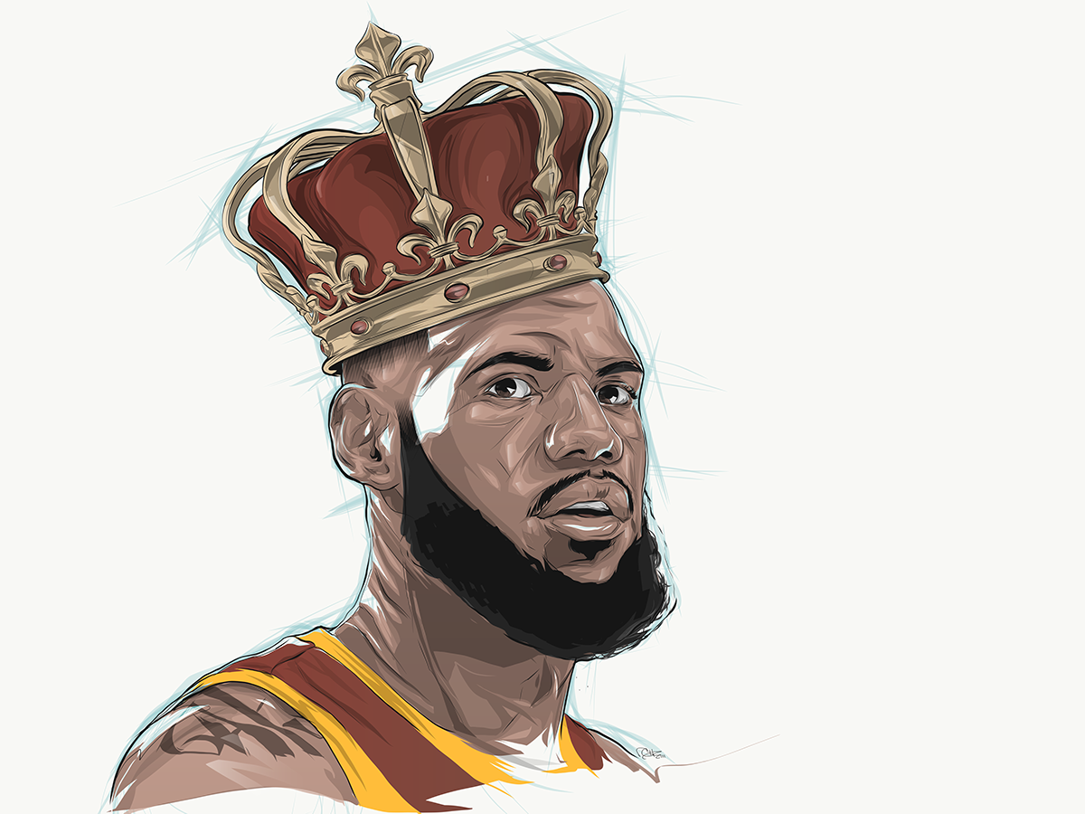 king lebron espn animated time lapse illustration on behance Cartoon Basketball Hoop Basketball Clip Art Black and White