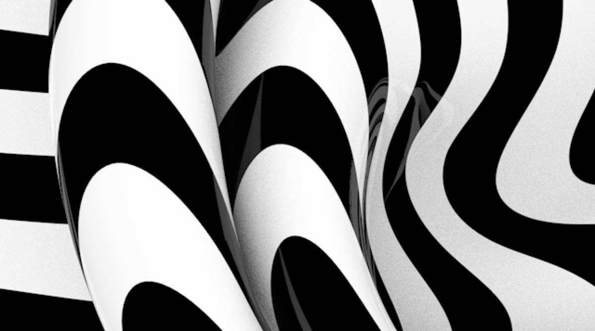 abstract futuristic math black and white conference installation identity Mapping 3D interactive kineсt functions