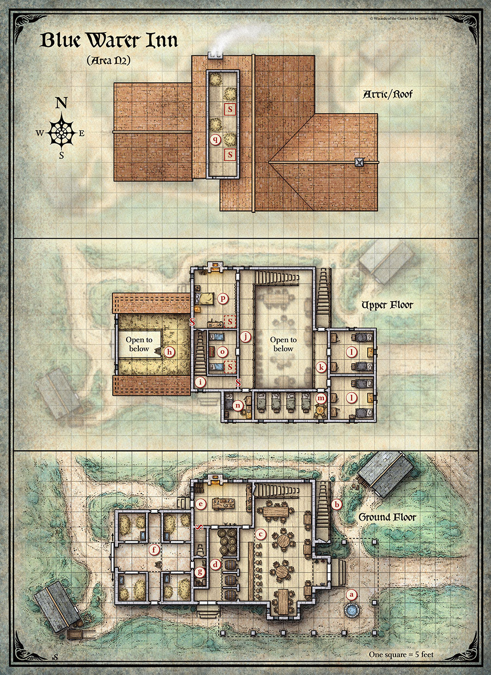 Blue Water Inn Map