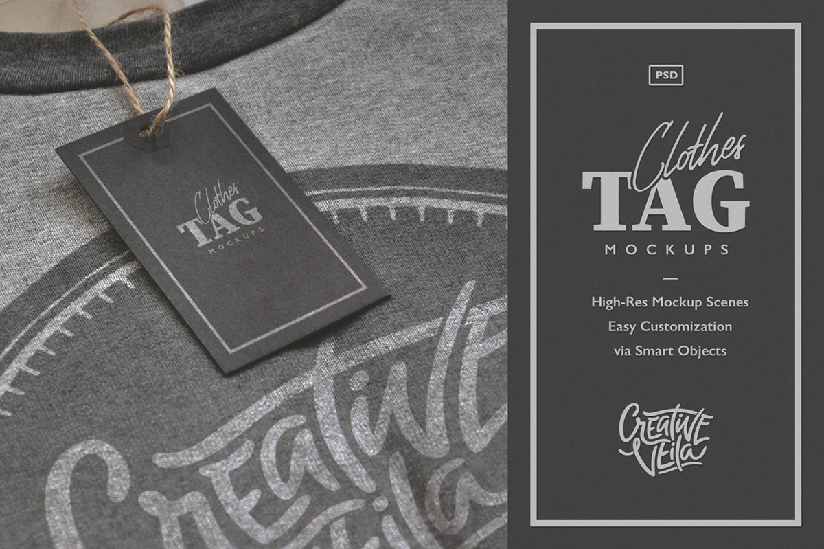 Free Download: Clothes Label Tags PSD Mockups on Behance
