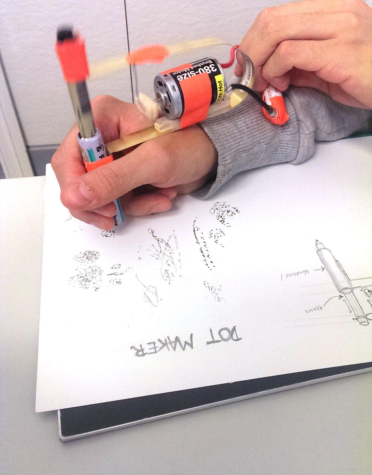 dots maker stippling stipple machine DIY prototype Drawing