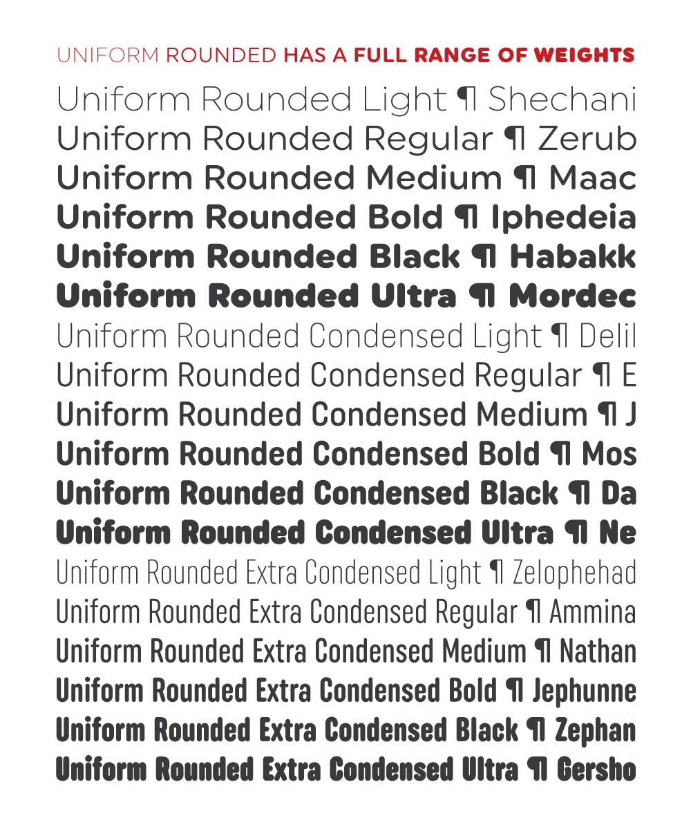 Uniform Rounded: Soft Geometric Typography on Behance