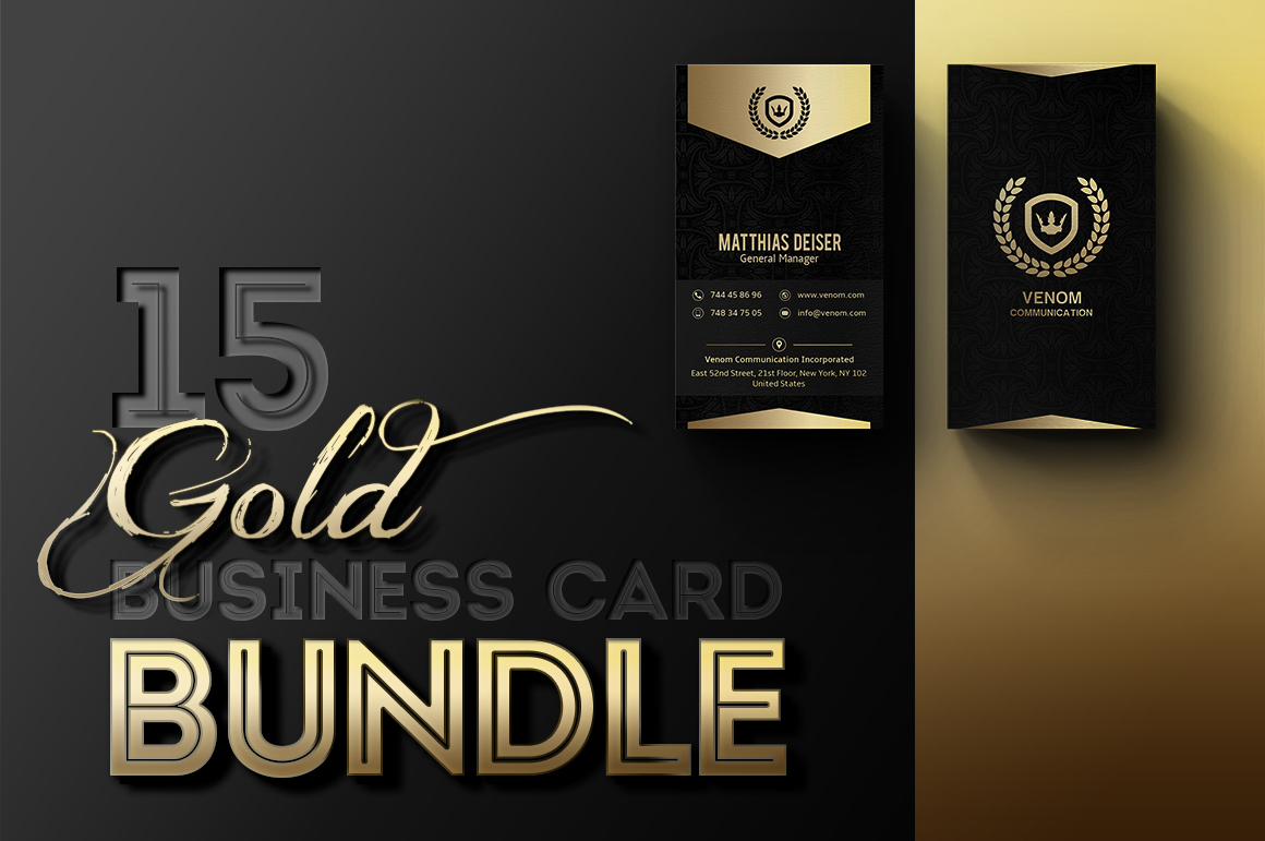 Gold business card bundle 15 templates on behance colourmoves