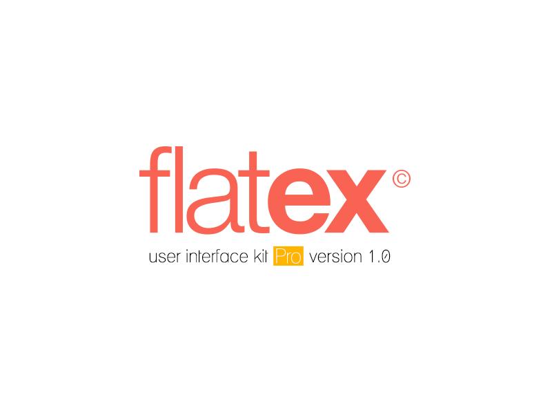 UI ux kit V1.0 moeslah Flatex user Interface free freebie