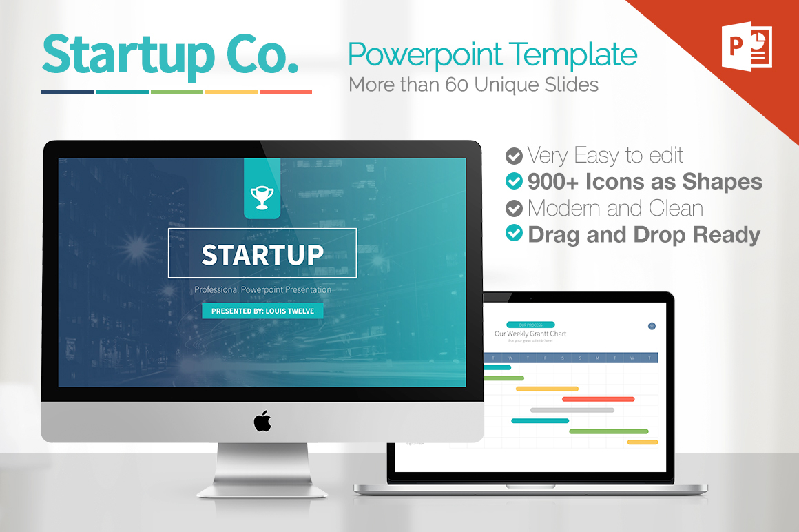 Startup powerpoint presentation template on behance startup powerpoint template is a new fresh modern clean professional ready to use creative and toneelgroepblik Image collections