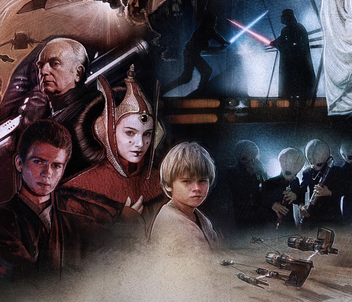 the star wars saga episode i  vii on behance