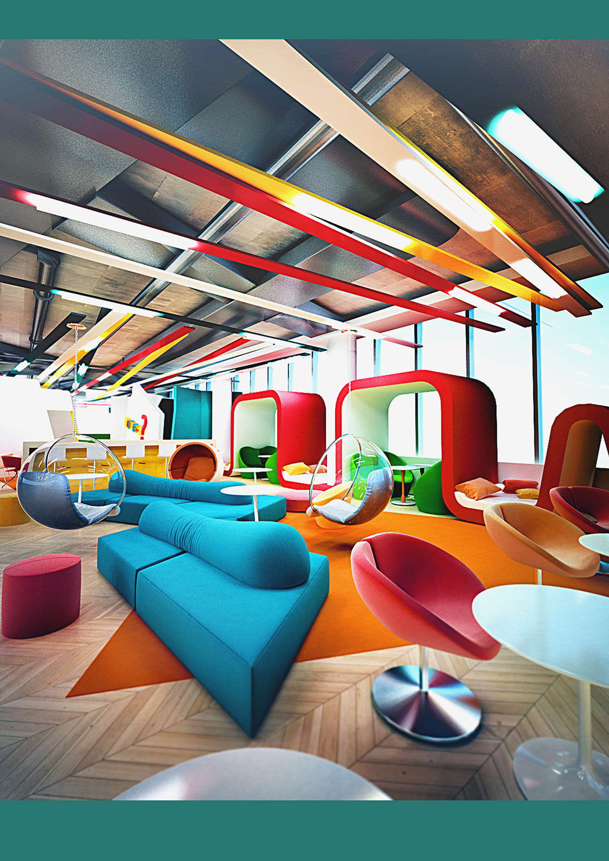 Project office bob on behance for Creative small office design