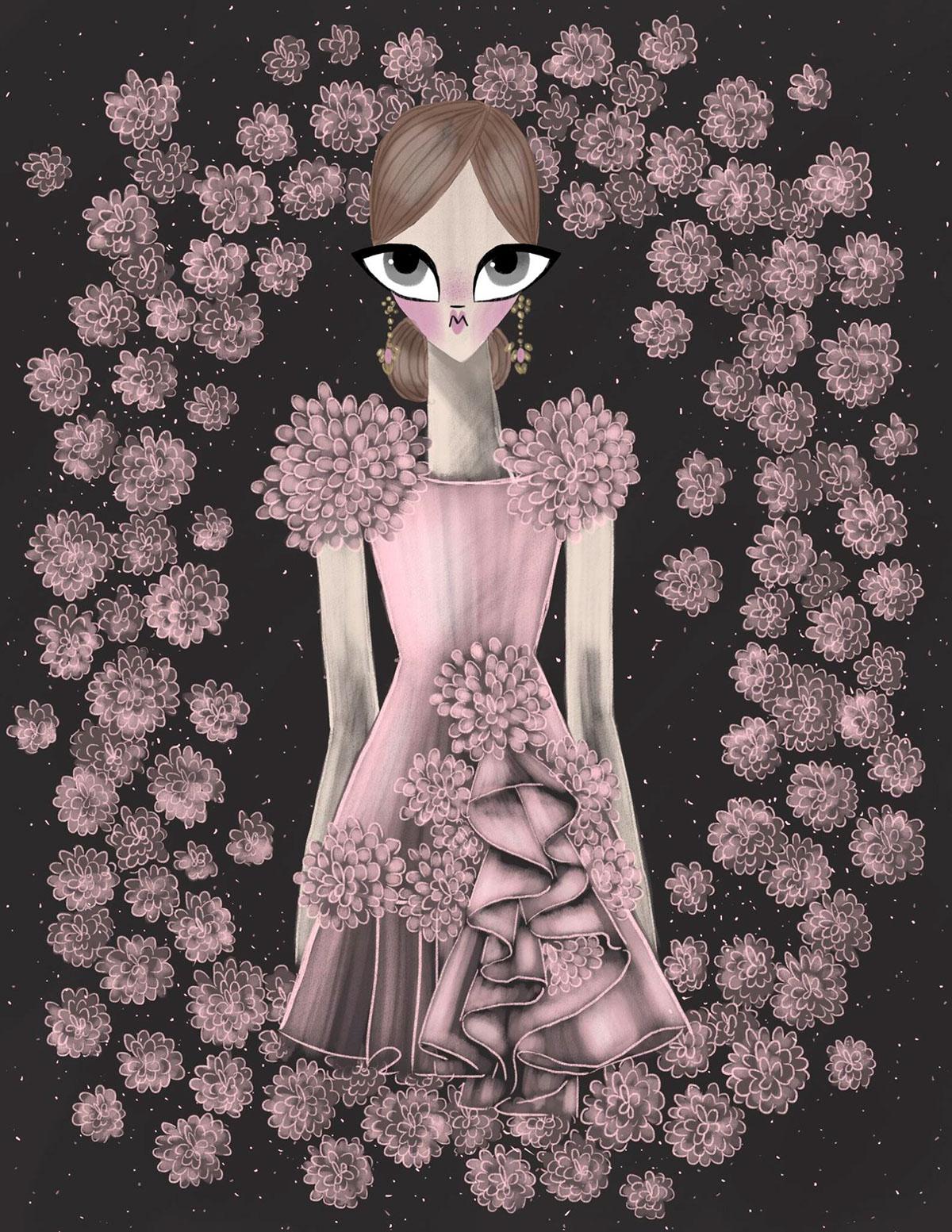 fashionillustration Marchesa prefall2016 georginachavez mexico cuu artist