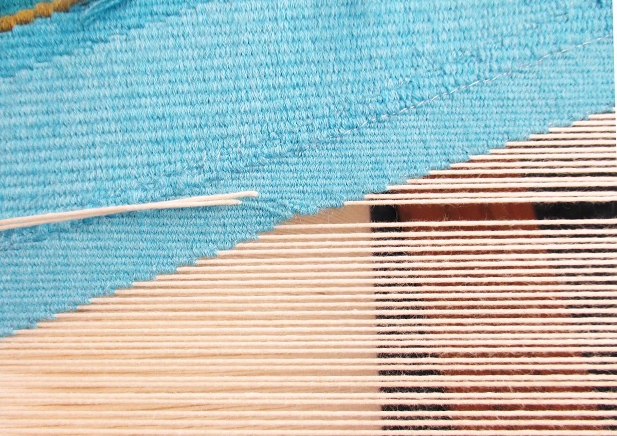 tapestry UNESCO carpet rug  luxury craft handmade hybrid art Bina Baitel Woven wood