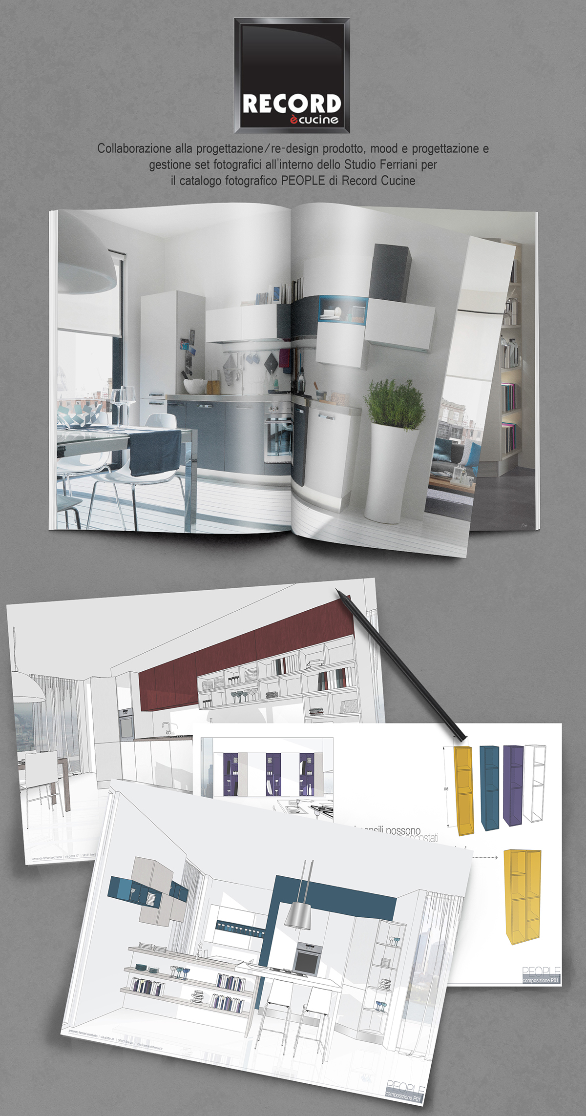 PEOPLE Record Cucine on Pantone Canvas Gallery