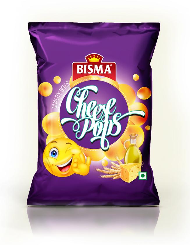 Bismah Cheese pops foil pack chips Food  sri lanks manchester 3D pack Aluminum Pack