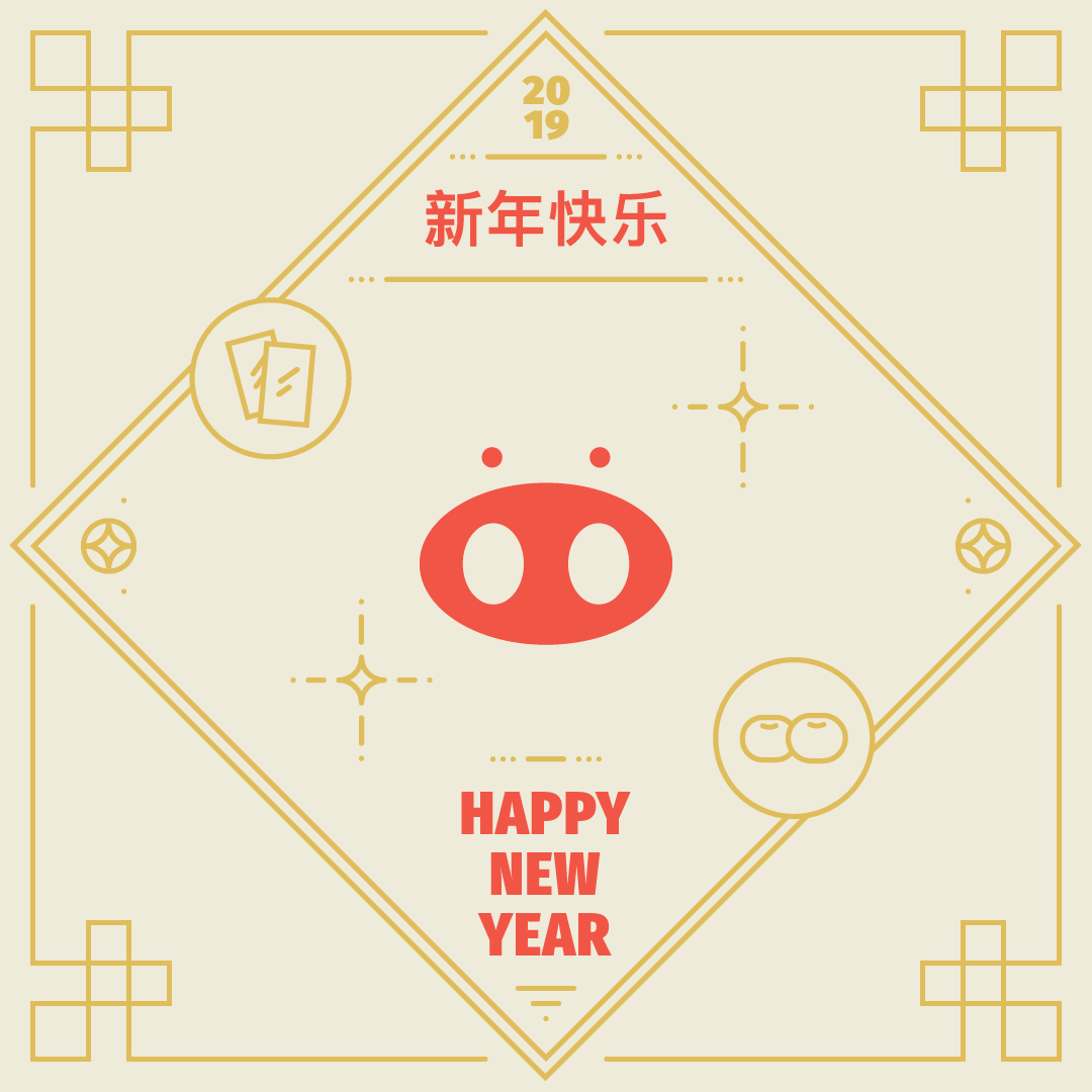 chinese new year pig graphic design  ILLUSTRATION