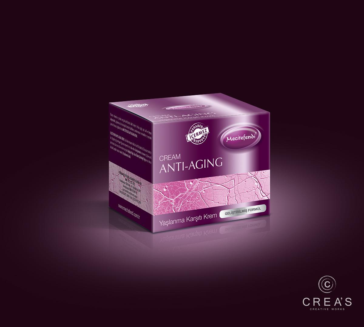 Anti-Aging Krem Ambalaj ve Etiket Tasarımı on Behance