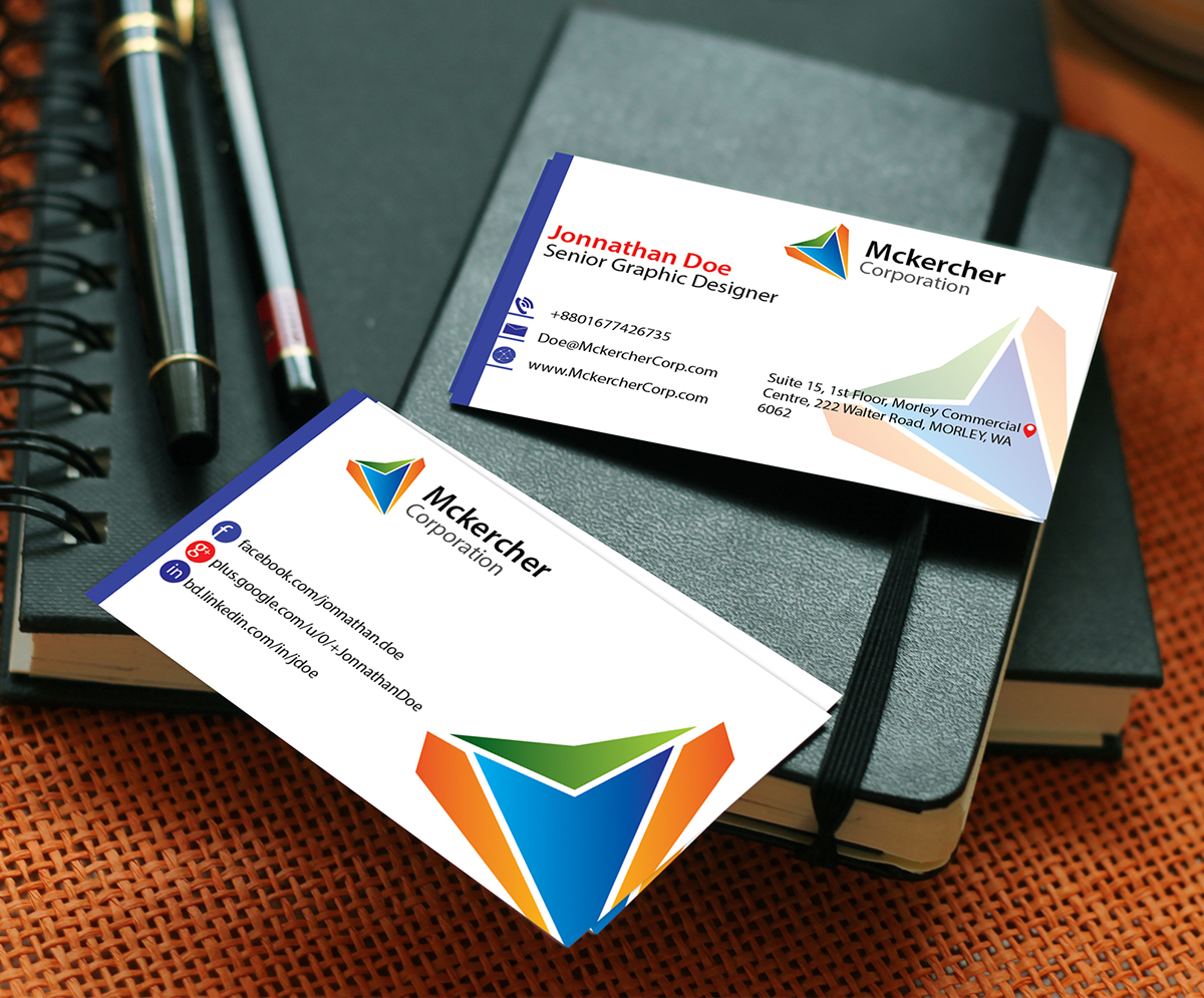 Simple and creative business card template on Behance