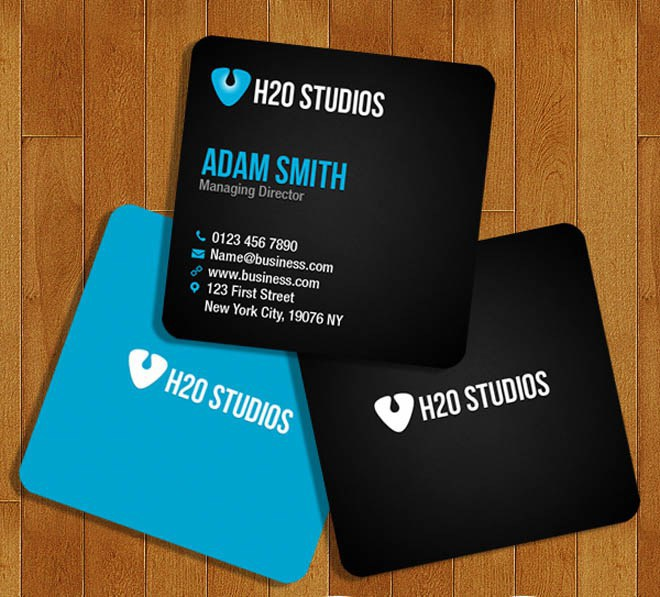 Free Square Business Card Template On Behance - Square business card template