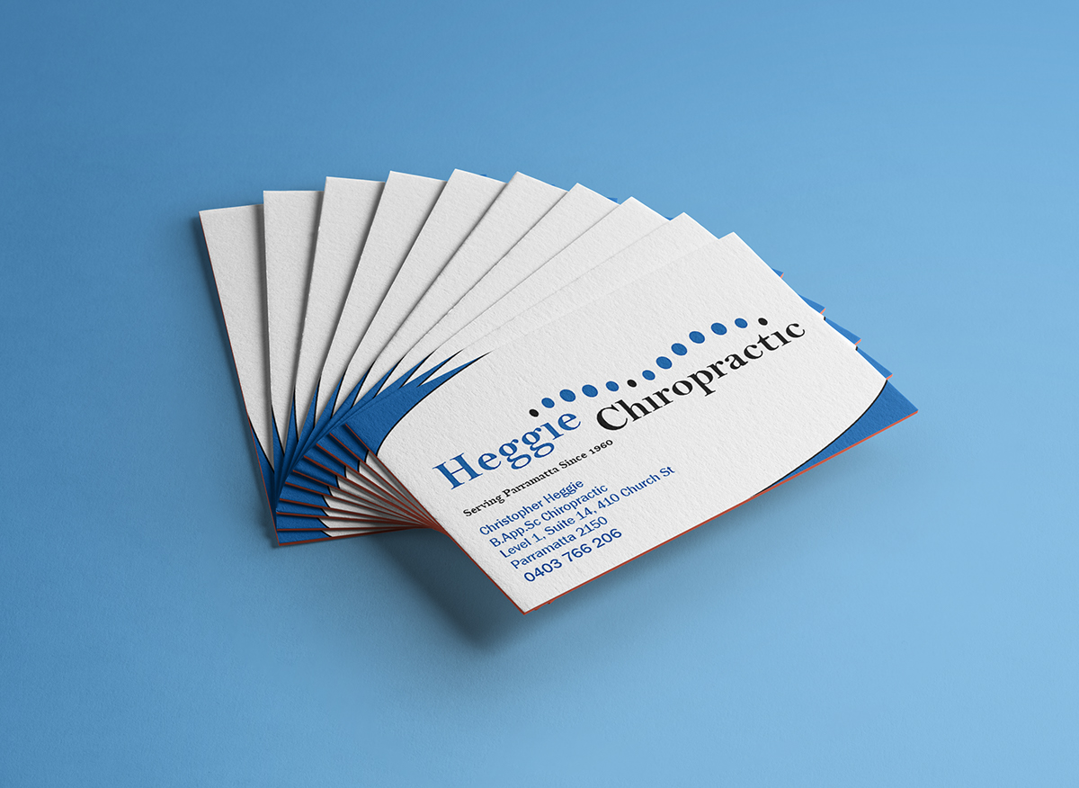 Chiropractic Business Card Design on Behance