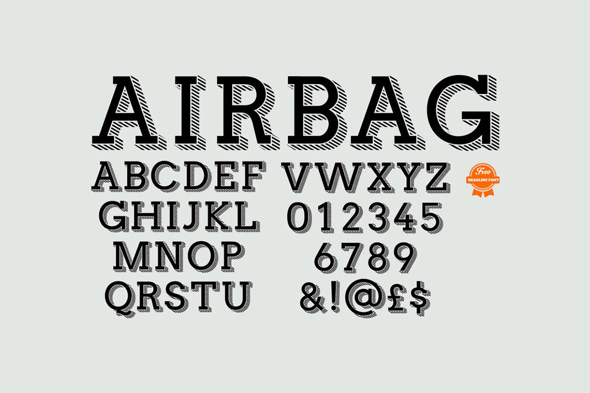 Airbag font Typeface free typeface Free font free type typeface design Simon stratford itsmesimon airbag typeface airbag font airbag free font airbag free typeface
