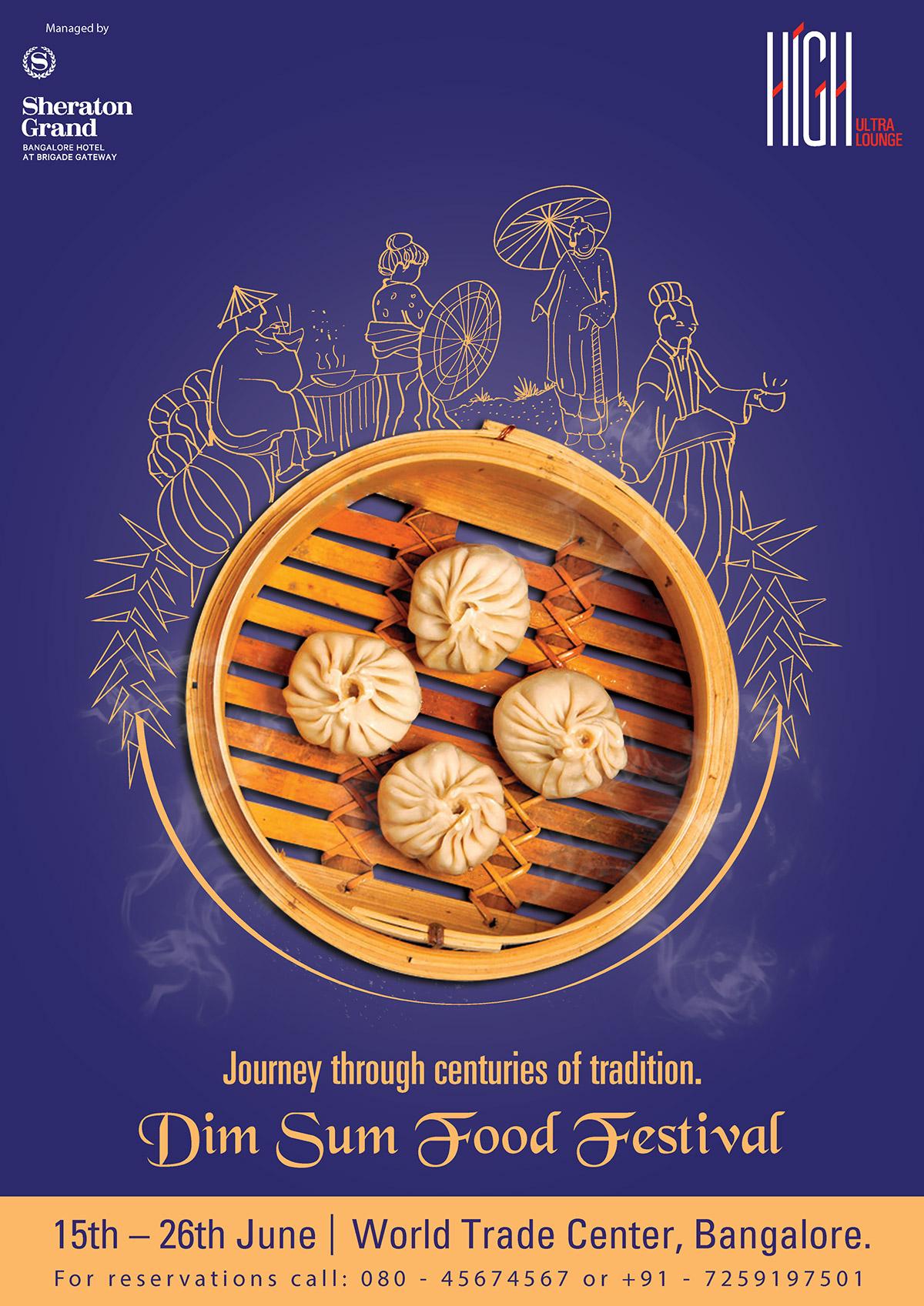 Dim Sum Food Festival poster design on Behance