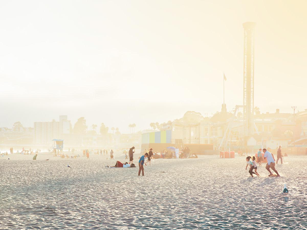 santacruz AMUSEMENT Park California usa beach Sun colors Pastels peoples