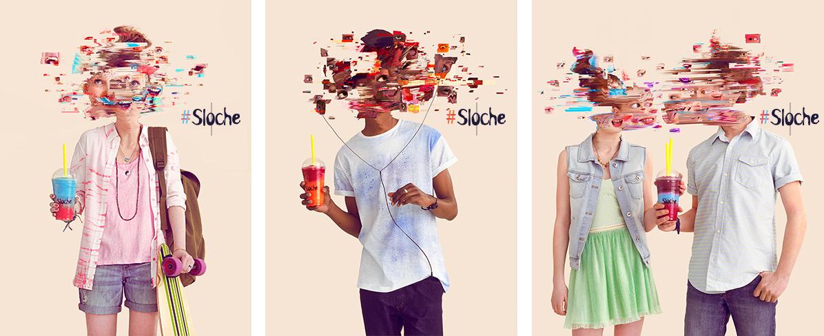 slush Glitch Fun effect colors fluo Montreal havas Sun shed