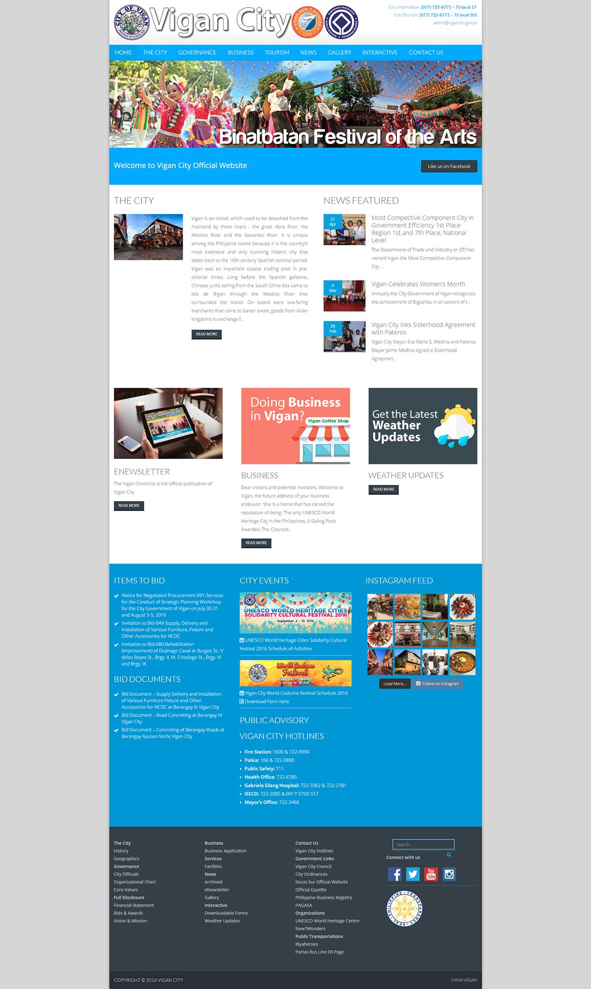 Vigan City  government website new7wondercity