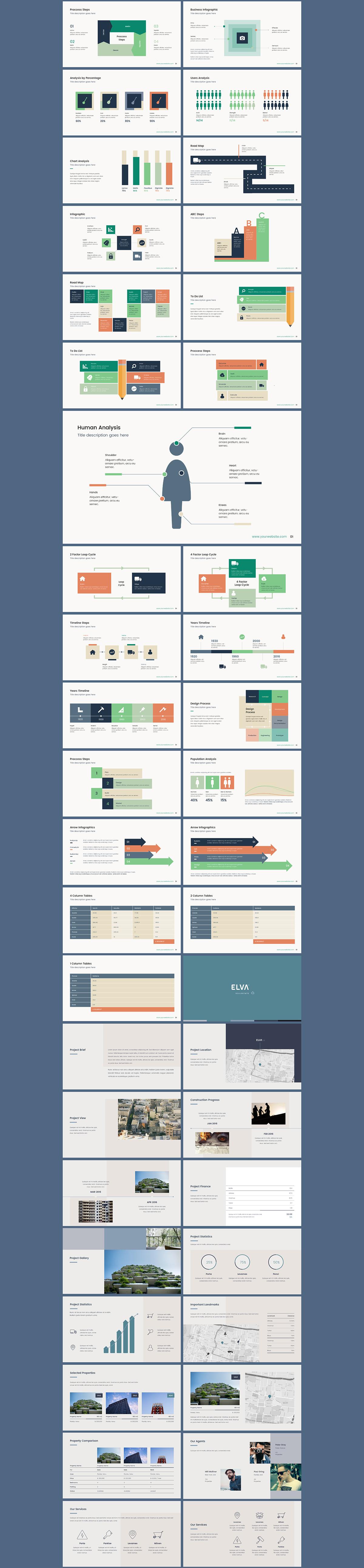 ultimate powerpoint presentation template elva on pantone canvas