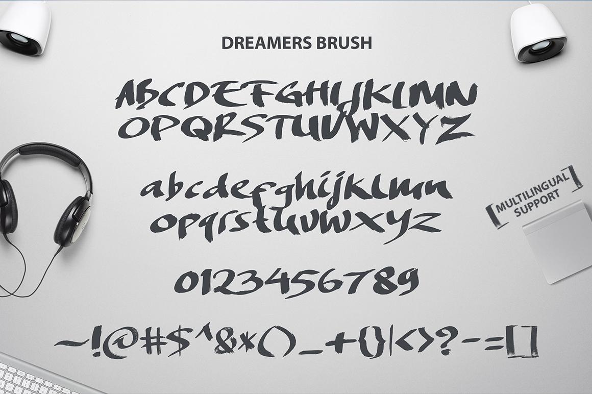 brush type font free lettering Handlettering grunge stunning Typeface quick