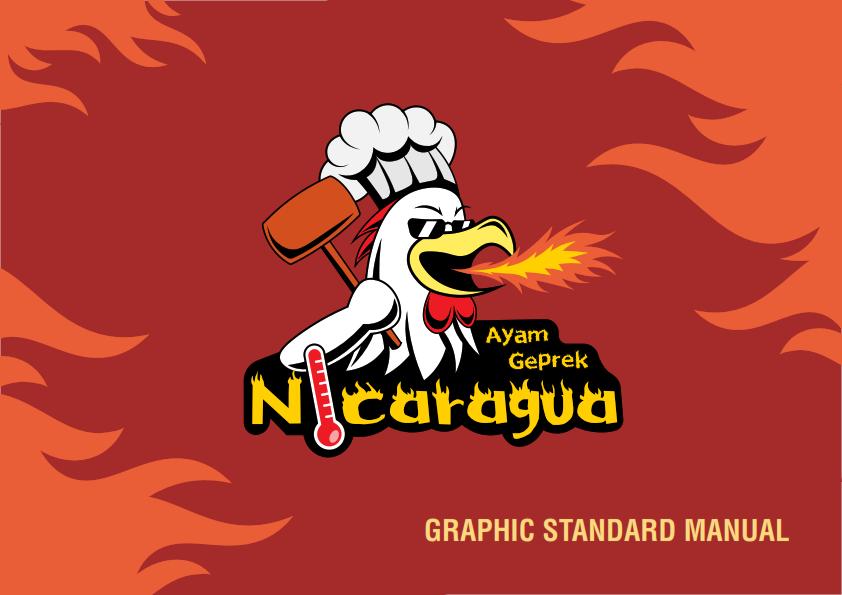 """Main logo of """"Ayam Geprek Nicaragua"""""""