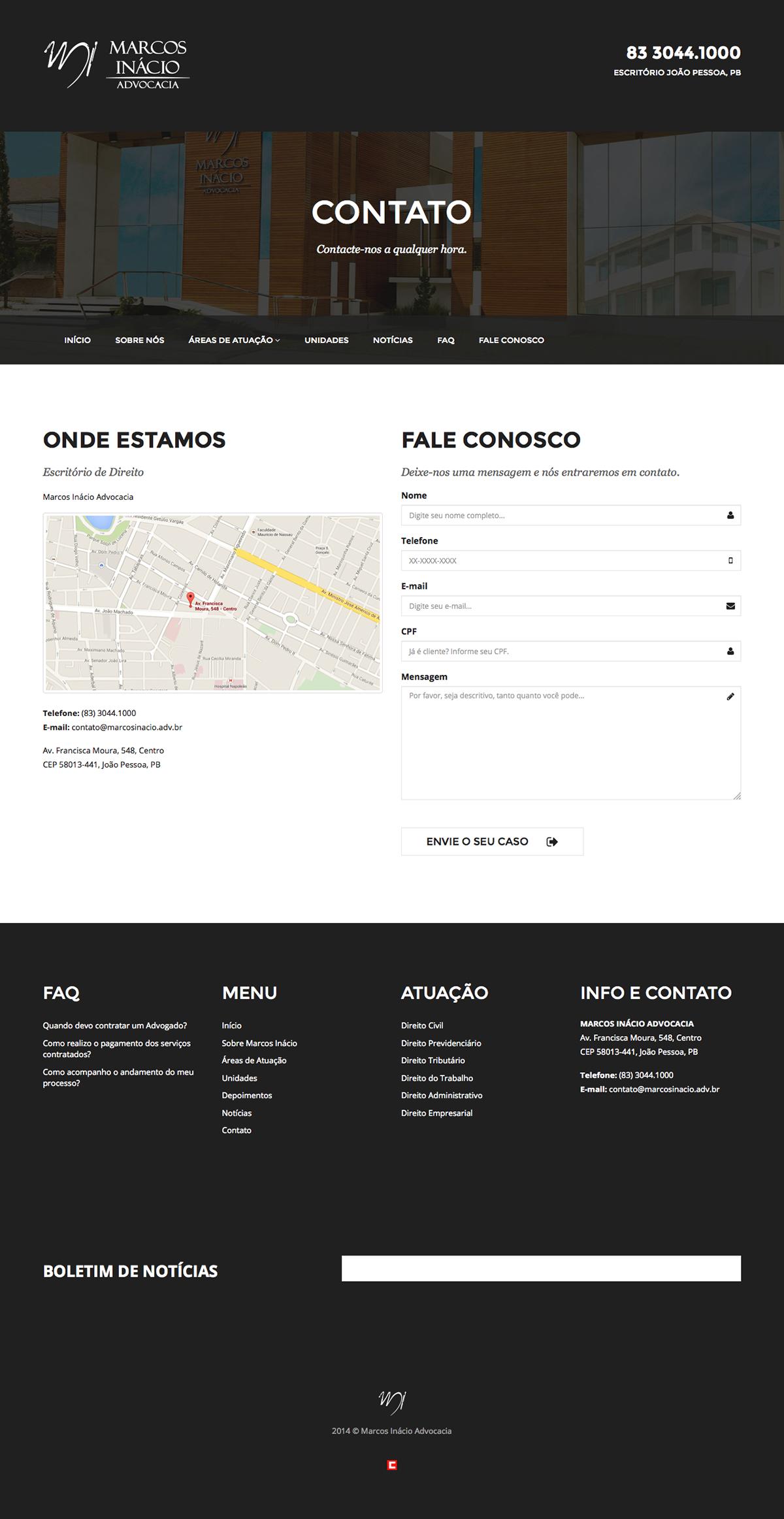 criação site site advocacia Site Advogado marcos inácio adv marcos inácio sites joao pessoa clidenorME clidenor clidenorjr
