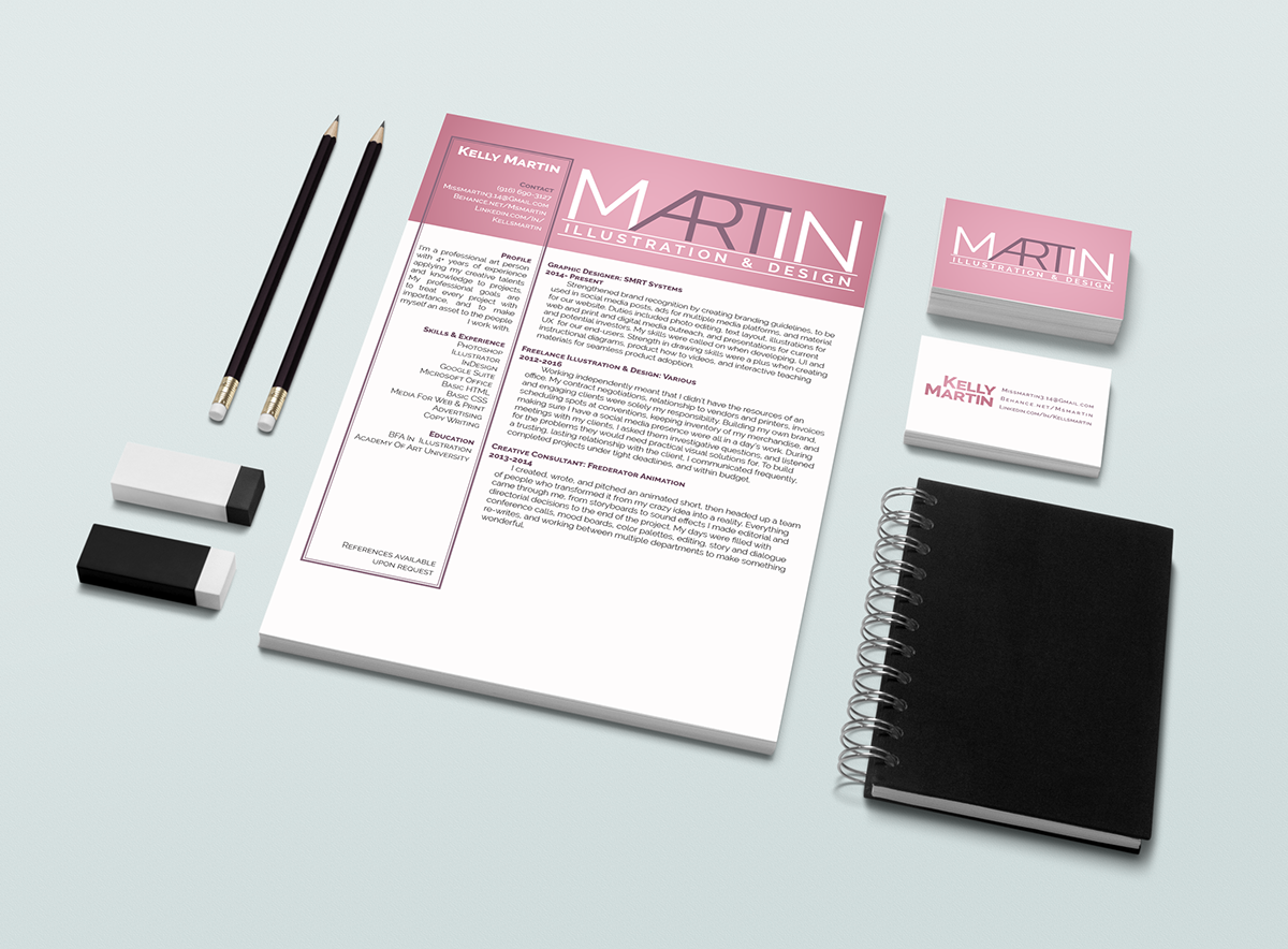Resume & Business Cards; Personal Branding on Behance