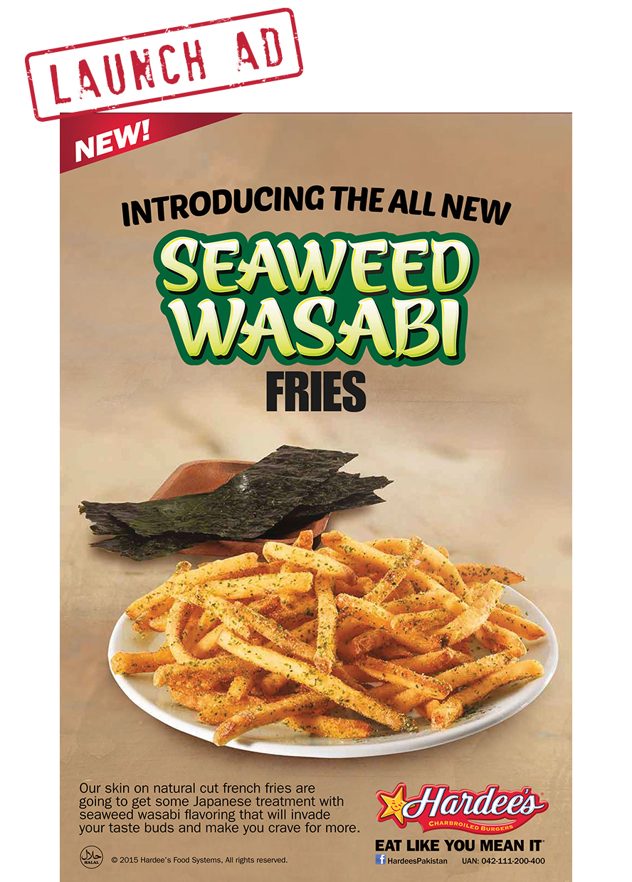 Hardees Seaweed Wasabi Fries Campaign & Teaser on Behance # Wasbak Fiets_190504