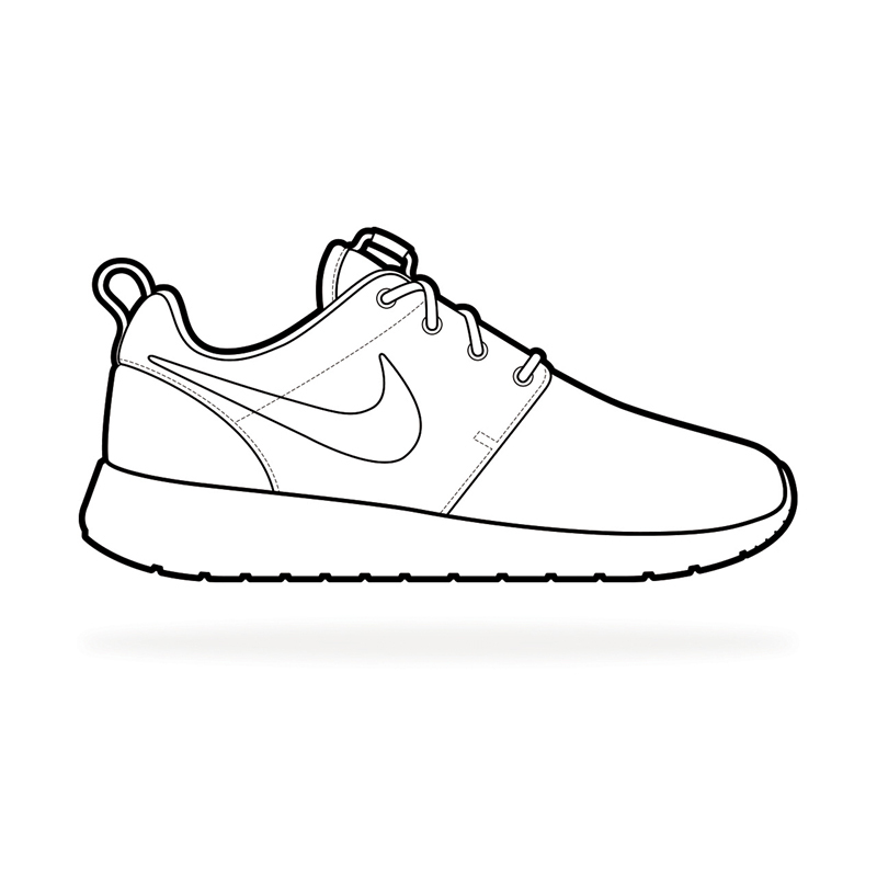 running shoes coloring pages - the gallery for nike running shoes coloring pages
