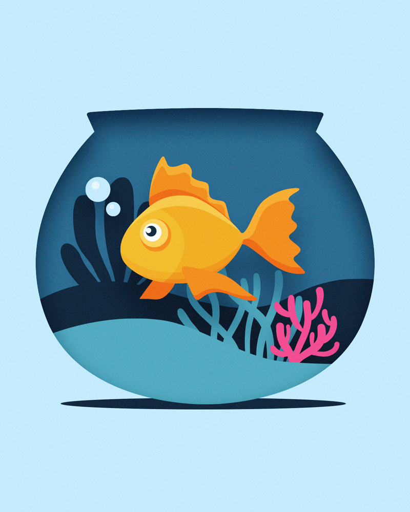 Image may contain: cartoon, animal and fish