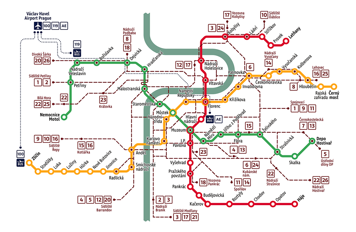 cartography map design prague Street Icon ILLUSTRATION