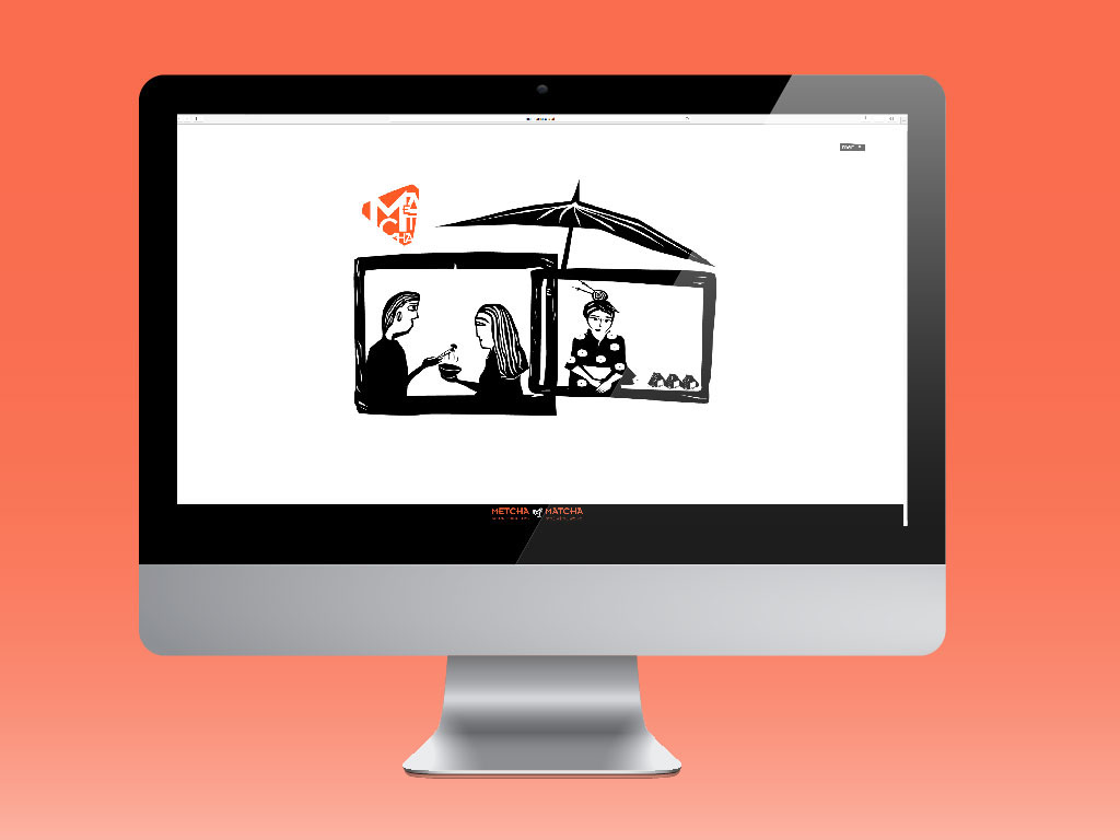 japanese food Webdesign simple design woodblock 50ies