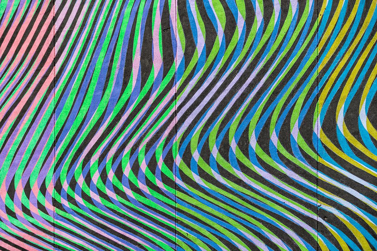 stenografia festival yekaterinburg dispersion stfnv artem stefanov public art channels Glitch stripes colors