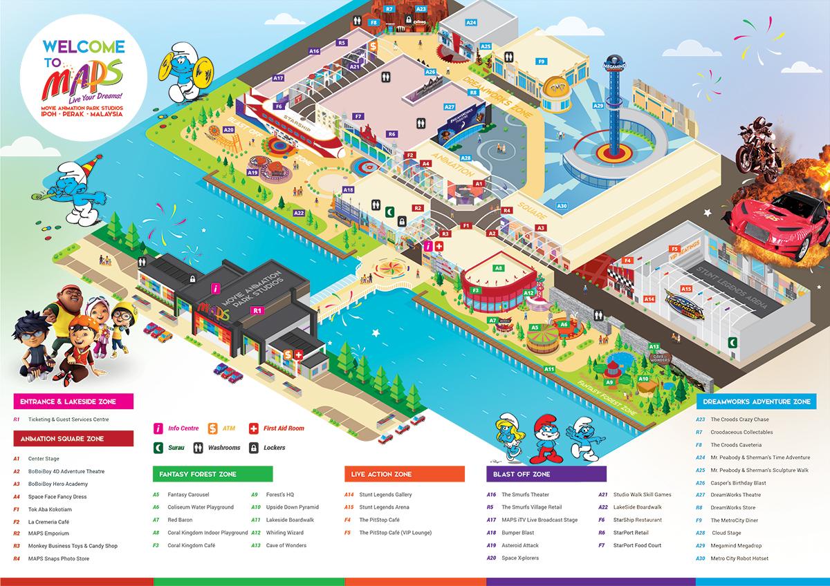 Movie Animation Park Studios Park Map On Behance