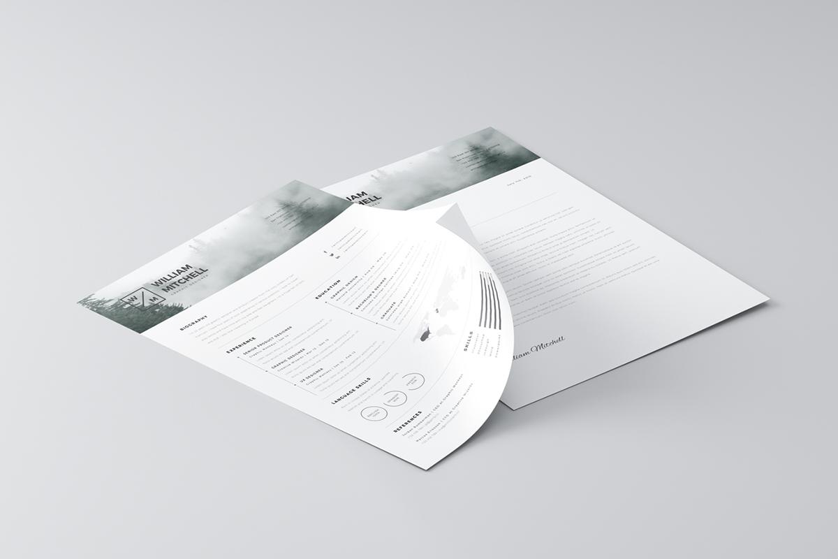 free minimalistic  u0026 clean resume