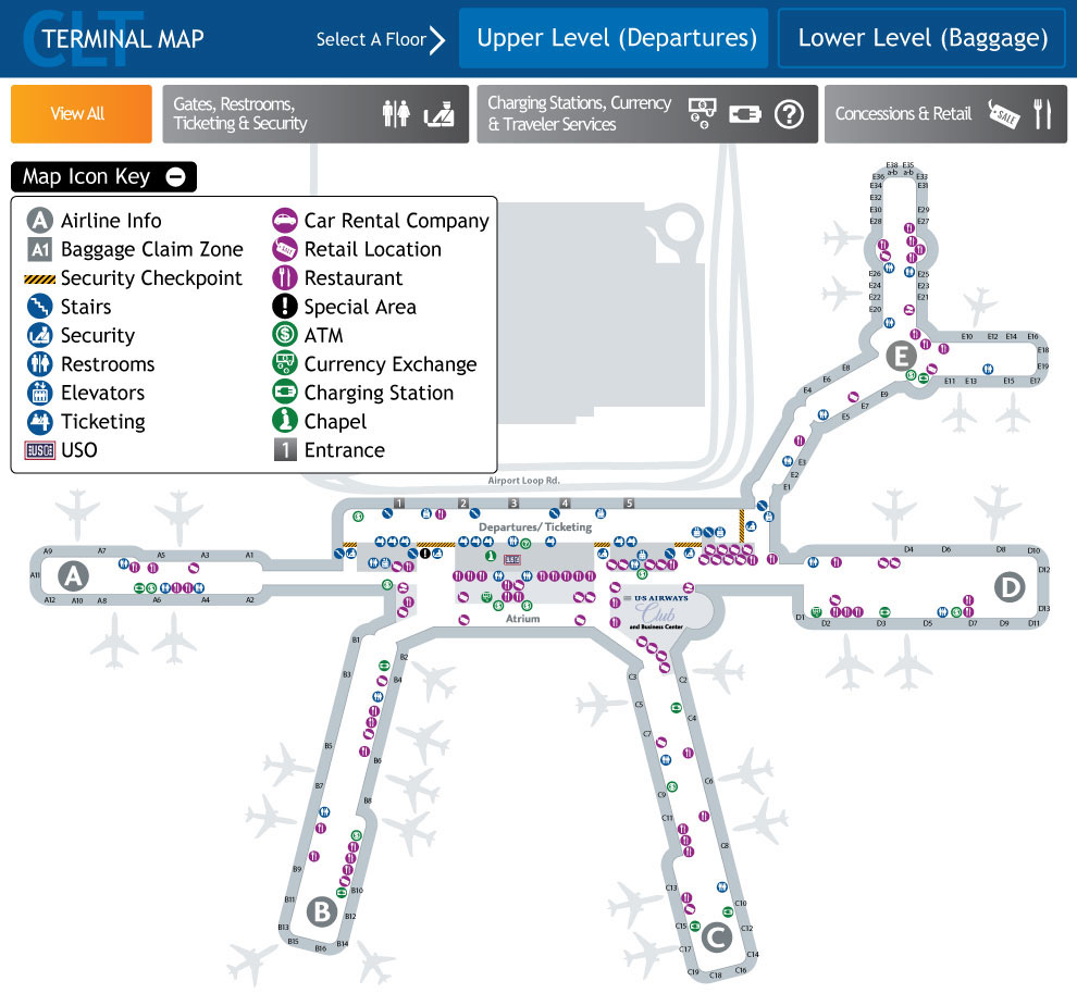 CLT Terminal Map on Behance