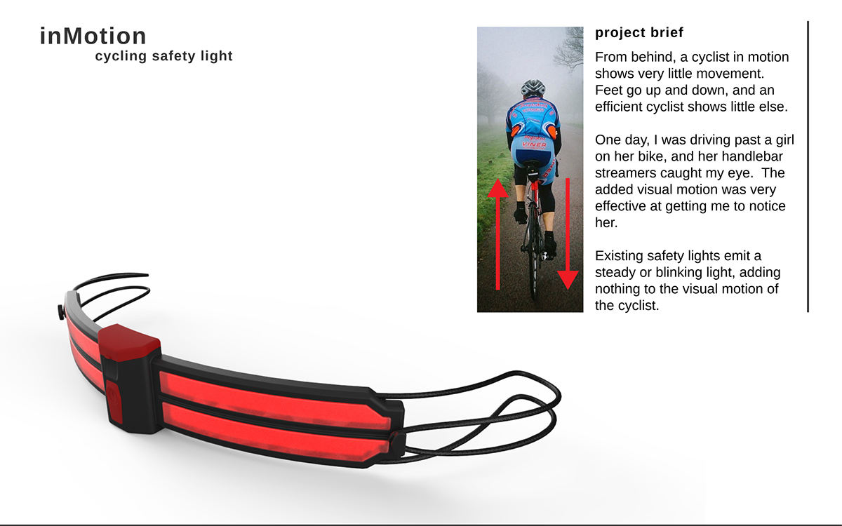 Cycling safety light road biking motion rubber 3d printing