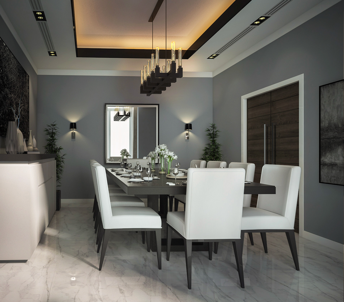 Modern Interior Design - Dining Room on Behance