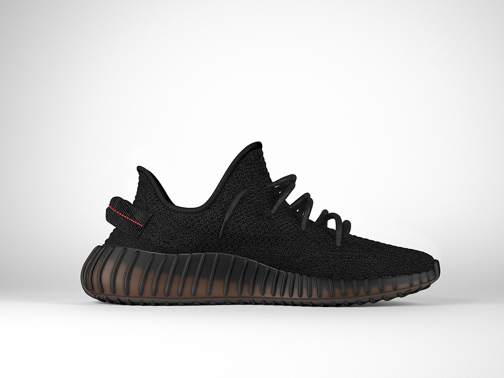 3D Adidas Yeezy Boost 350 v2 Bred on Behance