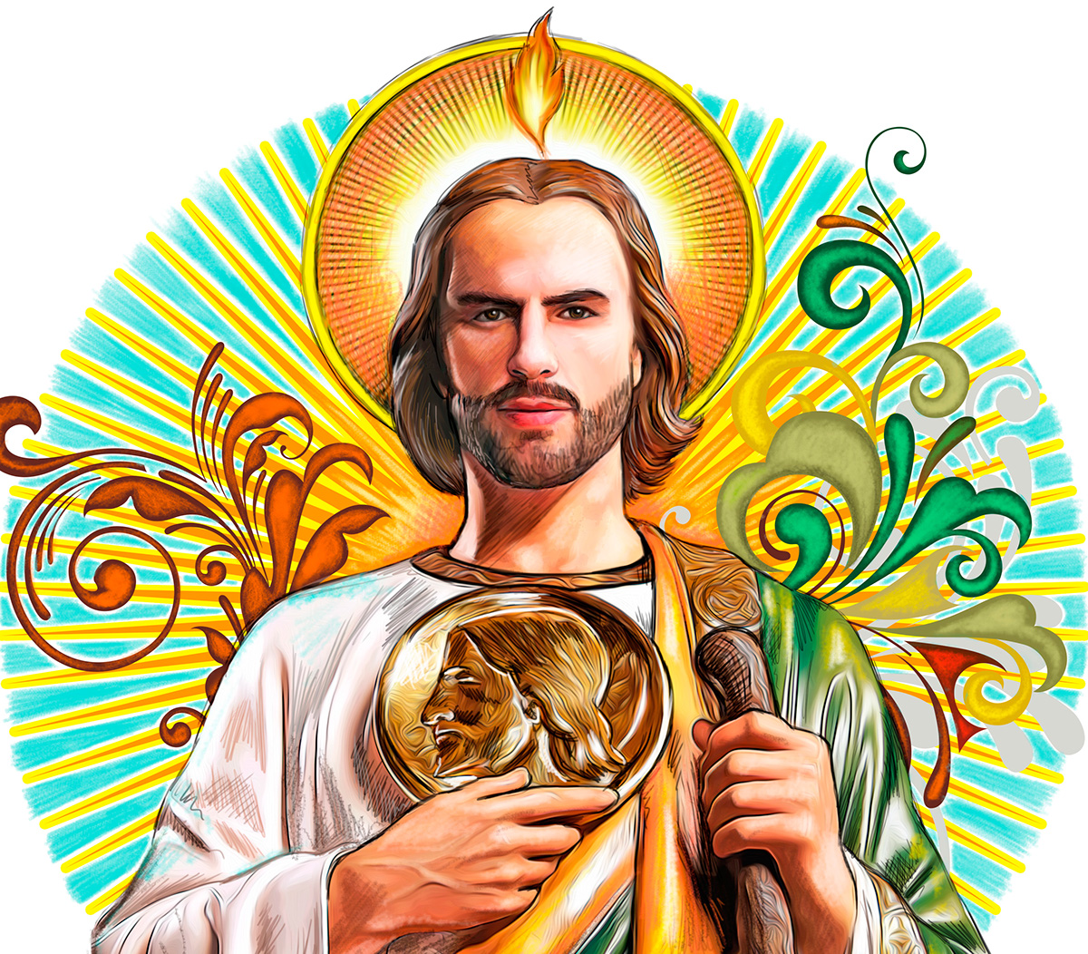 San Judas Tadeo Illustration On Behance