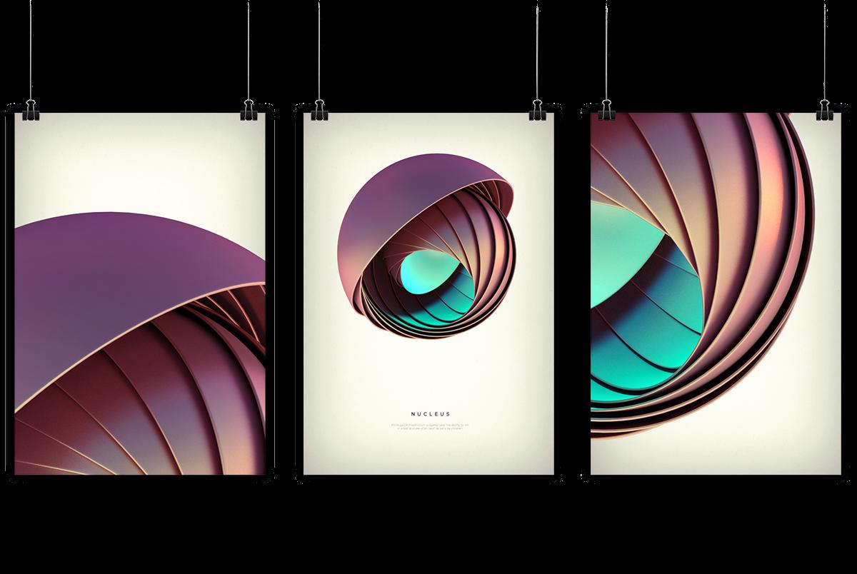 3D wallpaper background poster Shells