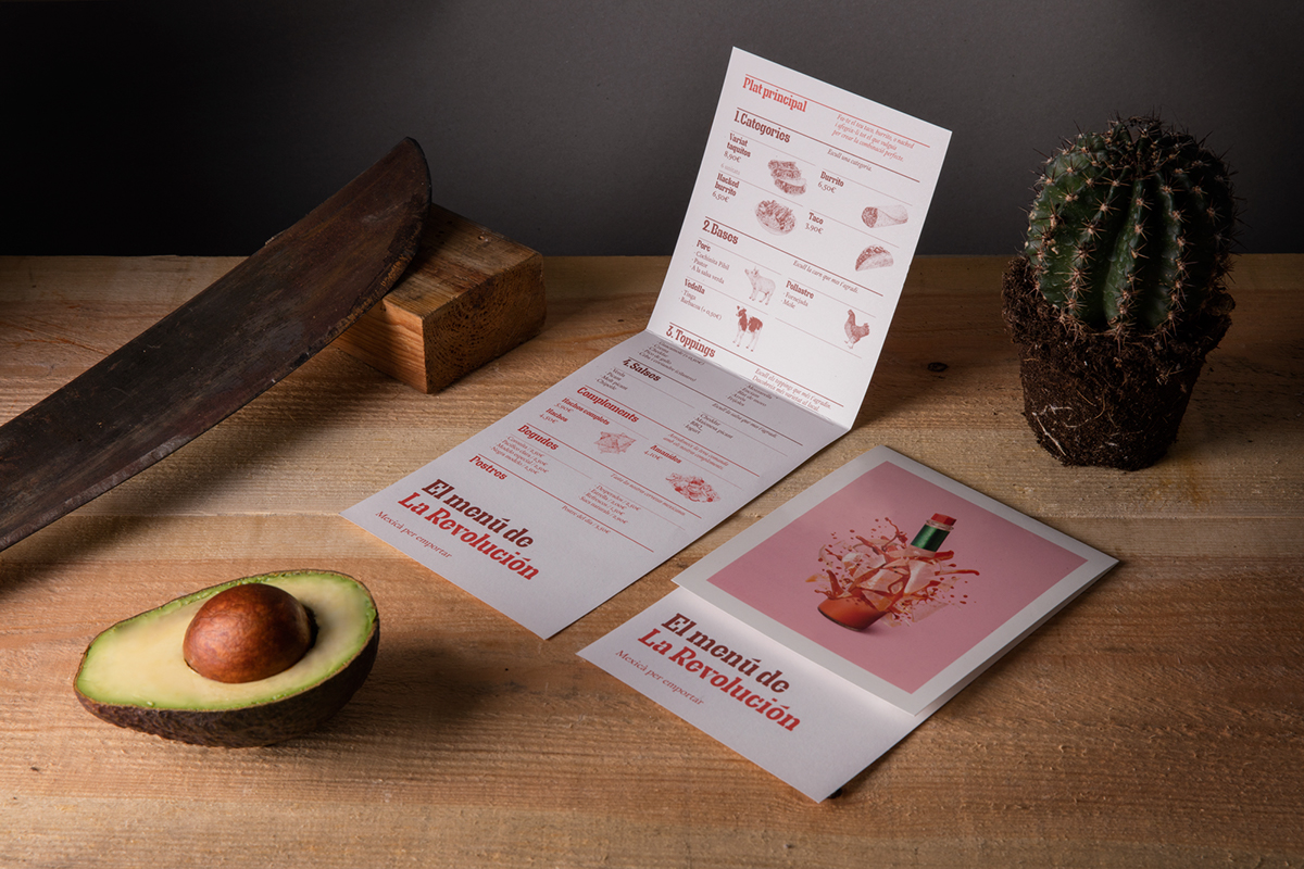 Mexican takeaway Typeface hand drawing illustration Tacos Food  take away restaurant
