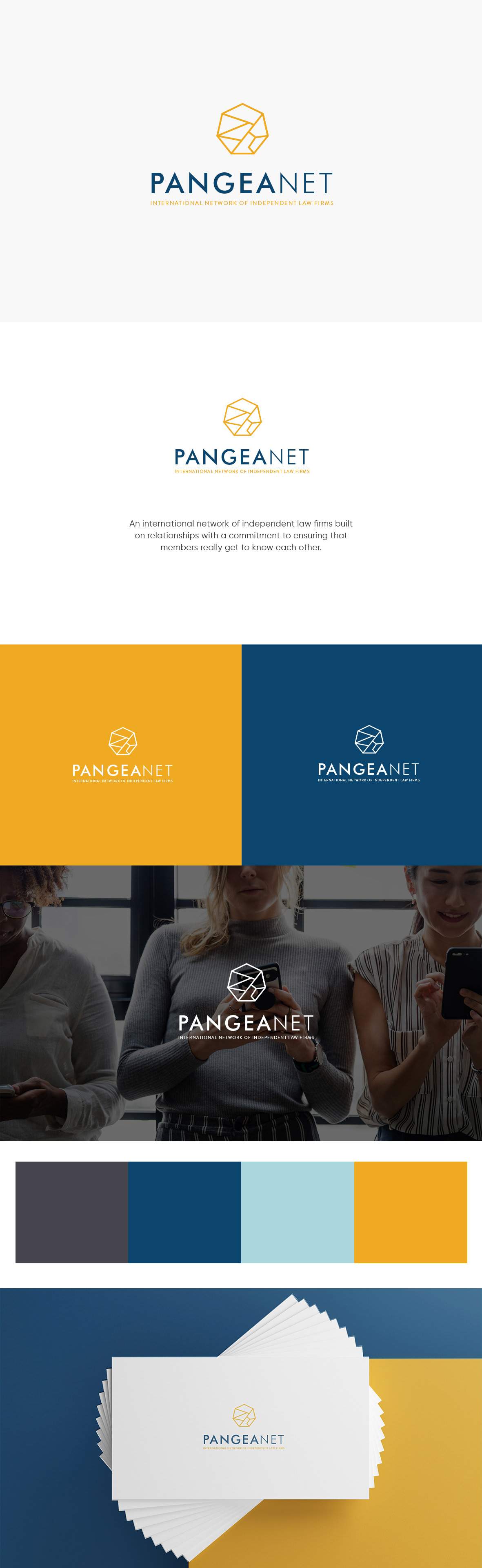 branding  Logo Design law firm legal corporate pangea Brand Design Corporate Identity corporate guidelines visual language