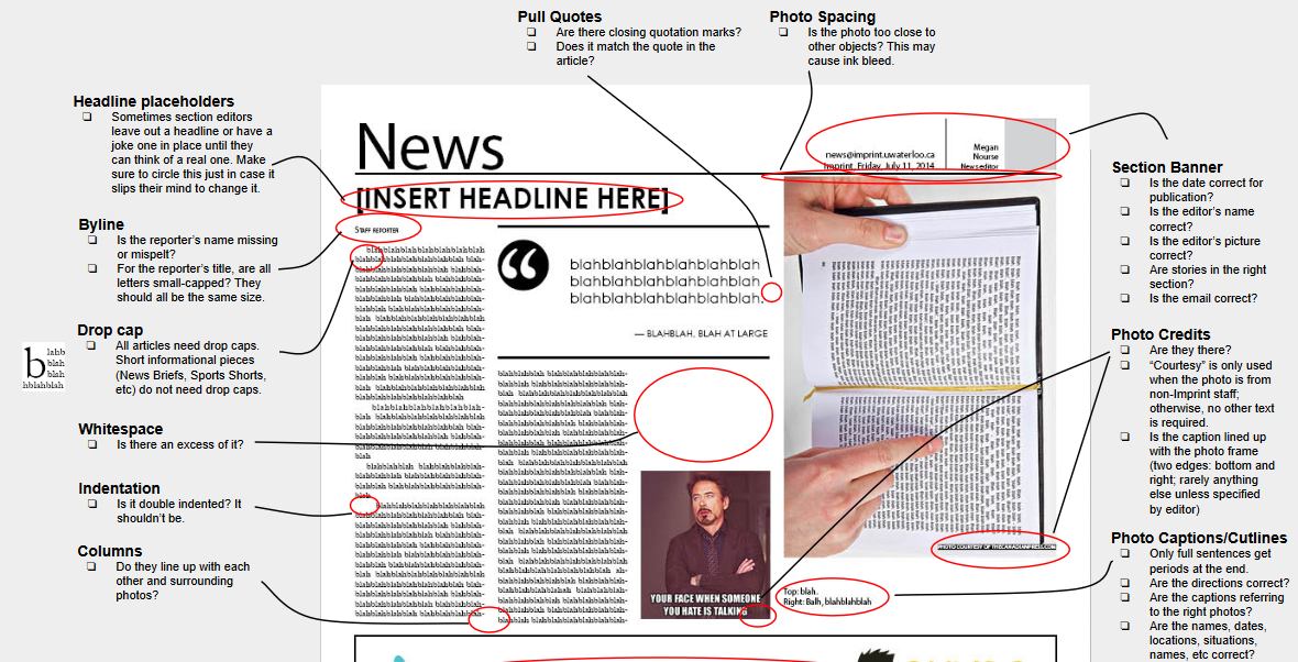 newspaper layout guide on behance