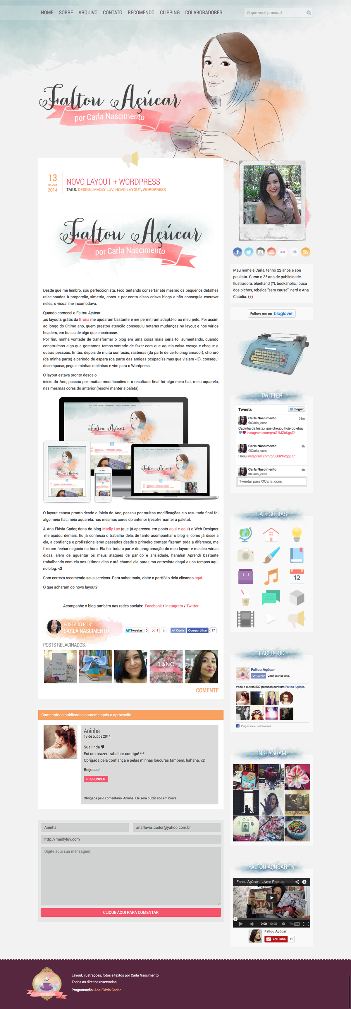 Faltou Açucar (PSD to WordPress - Responsive)