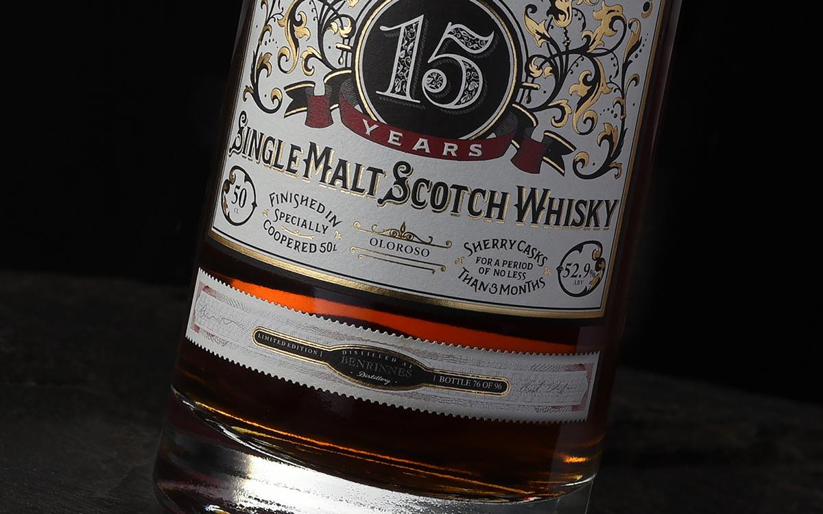 type vintage heritage Retro decrorative detail filigree lettering letters Whisky Whiskey alcohol bottles design Classic